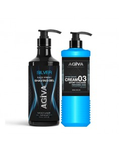 PACK AFEITADO SHAVING GEL SILVER + AFTER SHAVE SPORT